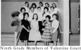 1962 - Ninth Grade Members of Valentine Court at Palm Springs Junior High School, Hialeah