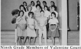 1962 - Ninth Grade Members of the Valentine Court at Palm Springs Junior High School, Hialeah