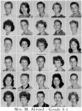 1962 - Grade 8-1 at Palm Springs Junior High - Mrs. Alvord
