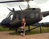 2007 - Kyler and Karen Kramer with Vietnam Era Huey at the Vietnam Veterans National Memorial