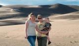 July 2007 - Donna, Karen and Kyler Kramer at the Great Sand Dunes National Park, Colorado