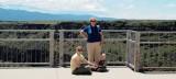2007 - Karen D. Kramer, Karen C. and Kyler Kramer on the bridge over the Rio Grande River