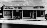 1951 - Tony's Cleaners and Laundry, Peggy's Beauty Salon and Lena's and Flora's Florist Shop, NW 79 Street and 16 Avenue, Miami