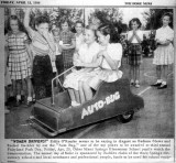 1954 - Miami Springs Elementary students Eddie O'Rourke, Barbara Blews, Rachel Hackler and others at Fairyland Park Day