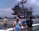 Dhong aboard the USS Stennis!