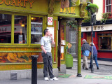 Smoker in front of Gogarty Pub