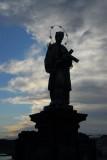 Saint on the Charles River Bridge