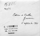 Annotation manuscrite de G. Ledormeur