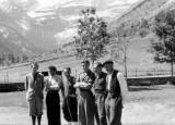 Armand Charlet (à gauche) à Gavarnie pour une session aspirant- guide
