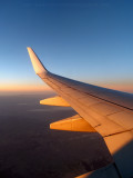 Sunrise over the wing