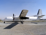 Fokker 50 with gravelkit
