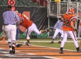 mark drives #40 into the end zone