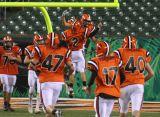daniel and jahan celebrate touchdown