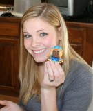 alex with her candy-turkey