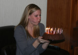 alex blowing out her birthday candles