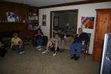 boys watching nascar