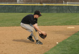andrew makes a play at third