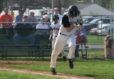 t.c. hustles down the first base line