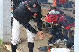 ethan praying in the dugout . . . again
