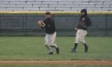 daniel makes a catch in centerfield