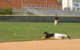 matt dives for a ball