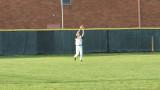 adam makes a catch in left field