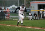 matt heads to first base
