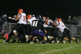 push into the end zone