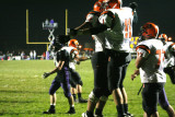 white and runk celebrate in the end zone