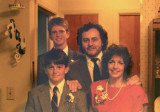 Judy, Richard, Ted and Steve - our wedding day in 1989