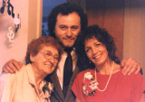 Hilda (Richard's mother), Richard and Judy on our wedding day in 1989