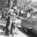 Richard at age 13 in front of his apartment house at 410 Westminster Road in Brooklyn (1955)