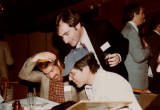 Fraternity reunion - Brooklyn College: Seated (l. to r.) are Joel & Bob; standing is Elliott. Ben is on the right (circa 1990)