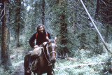 Richard on a backpacking trip in the mountains of Montana - coming out of a snowstorm. (8/1972)