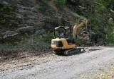 Tony grading the road to the Goat Creek trailhead