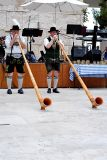 Alps Horns being played (bavarian)