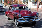 1950 Chevrolet Deluxe Styleline four door sedan with sun visor