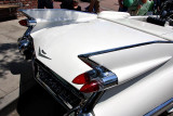 Tailfin view of a 1959 Cadillac Convertible