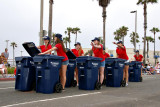 Precision trash can drill team :-)