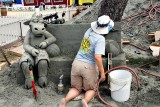 Cowabunga sand sculpture