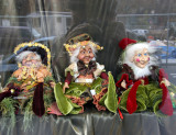 Elves in Avignon Pharmacy Window at Father Demo Square