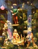 Christmas Tree Nativity Scene - Matt McGhee Store Window