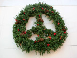 B Bar Grill & Cafe Peace Wreath