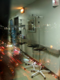 7th Avenue, Skyline & Window Reflection at St .Vincent's Intensive Care Corridor