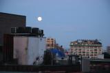 Moon Setting & Sunrise - West Village & New Jersey Palisades