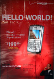 Glass Bus Stop Stand - BlackBerry Ad