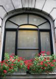 Washington Square Hotel Flower Boxes - Geraniums