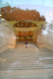NYU Student Center Staircase with Washington Square Park Reflection