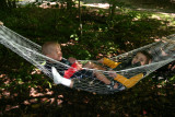 Edward and Michael in the hammock.