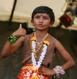 Little boy from a tamil dance group (Sri Lanka)